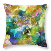 Hibiscus Trumpets Throw Pillow