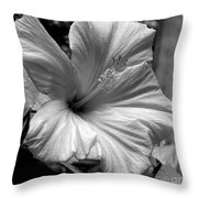 Hibiscus With An Infrared Effect Throw Pillow