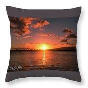 Hickam Sunset Throw Pillow
