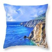Hidden Beach At Big Sur Throw Pillow