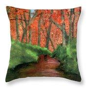 Hidden By Trees Throw Pillow