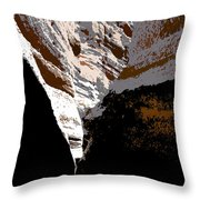 Hidden Canyon Throw Pillow