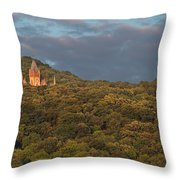Hidden Castle Throw Pillow