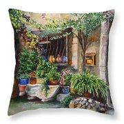 Hidden Courtyard Throw Pillow