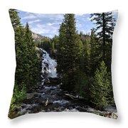 Hidden Falls - Grand Tetons Np Throw Pillow