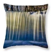 Hidden Falls Morning Glow Throw Pillow