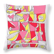 Hidden Hearts II Throw Pillow