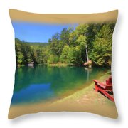 Hidden Hollow Throw Pillow