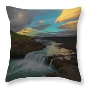 Hidden Icelandic Waterfall Throw Pillow
