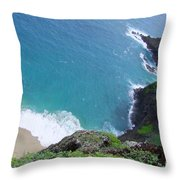 Hidden Kilauea Beach Throw Pillow