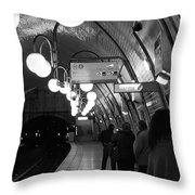 Paris Tube Station Cite - Hidden Kiss Throw Pillow