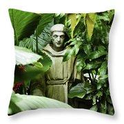 Hidden Monk Throw Pillow