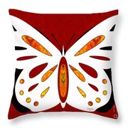 Hidden Possibilities And Abstract Butterflies By Omashte Throw Pillow
