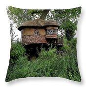 Hidden Treehouse Throw Pillow