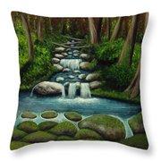 Hidden Waterfall Throw Pillow