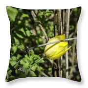 Hidden Yellow Tulip Throw Pillow