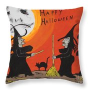 Hide The Halloween Candy Throw Pillow