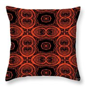 Hiding Behind A Red Mask Throw Pillow