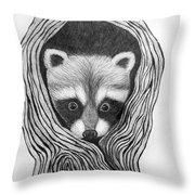 Hiding Out Throw Pillow