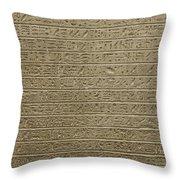 Hieroglyph Iv Throw Pillow
