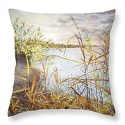 Hieroglyph Of Shining Autumn Throw Pillow