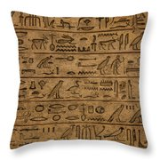 Hieroglyph Throw Pillow