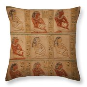 Hieroglyphic Detail Throw Pillow