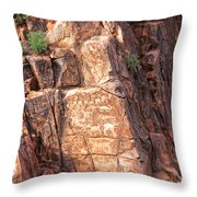 Hieroglyphics Trail 1 Throw Pillow