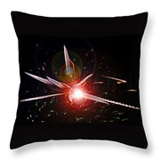 Higgs Boson Work B Throw Pillow