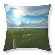 High Above Cropland  Throw Pillow