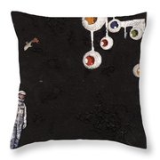 High Above Him There Throw Pillow