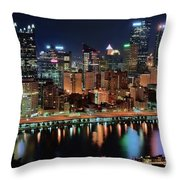 High Above Pittsburgh Throw Pillow