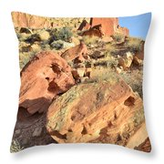 High Above The Campground Throw Pillow