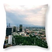 High Altitude Mexico Throw Pillow