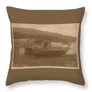 High And Dry In Sepia Throw Pillow