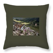 High And Wild Throw Pillow