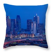 High Angle View Of A Multiple Lane Throw Pillow
