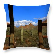 High Chaparral - Mountain View Throw Pillow