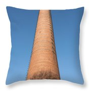 High Chimney At Blue Sky Throw Pillow