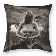 High Contrast Meditation Meadow Throw Pillow
