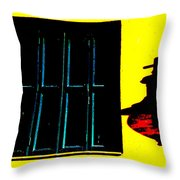 High Contrast Window And Lamp Throw Pillow