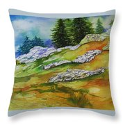 High Country Boulders Throw Pillow