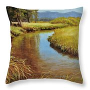 High Country Gold Throw Pillow