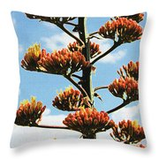 High Country Red Bud Agave Throw Pillow