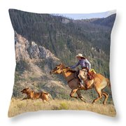 High Country Ride Throw Pillow