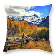 High County Ablaze Throw Pillow
