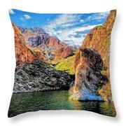 High Desert Lake Throw Pillow