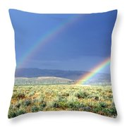 High Dessert Rainbow Throw Pillow
