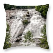High Falls At Dupont Forest Throw Pillow