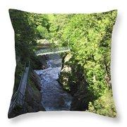 High Falls Gorge Throw Pillow